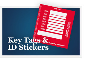 Key Tags and ID Stickers Example